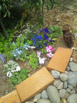 玄関前コンテナガーデン08:花壇
