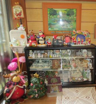 collection case and christmas ornaments